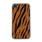 SKIN3 BLACK MARBLE & RUSTED METAL Apple iPhone 4 Case (Clear) Front