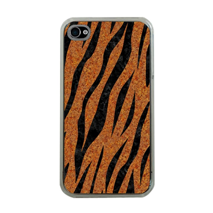SKIN3 BLACK MARBLE & RUSTED METAL Apple iPhone 4 Case (Clear)
