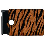 SKIN3 BLACK MARBLE & RUSTED METAL Apple iPad 3/4 Flip 360 Case Front