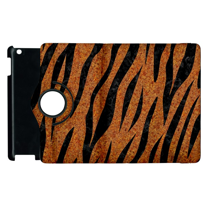 SKIN3 BLACK MARBLE & RUSTED METAL Apple iPad 3/4 Flip 360 Case