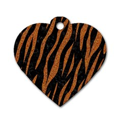 Skin3 Black Marble & Rusted Metal (r) Dog Tag Heart (two Sides) by trendistuff