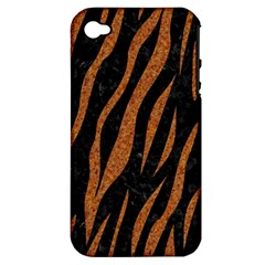 Skin3 Black Marble & Rusted Metal (r) Apple Iphone 4/4s Hardshell Case (pc+silicone) by trendistuff