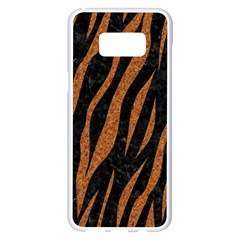 Skin3 Black Marble & Rusted Metal (r) Samsung Galaxy S8 Plus White Seamless Case by trendistuff