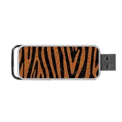 Skin4 Black Marble & Rusted Metal Portable Usb Flash (one Side) by trendistuff