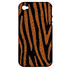 Skin4 Black Marble & Rusted Metal Apple Iphone 4/4s Hardshell Case (pc+silicone) by trendistuff