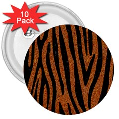 Skin4 Black Marble & Rusted Metal (r) 3  Buttons (10 Pack)  by trendistuff