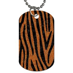Skin4 Black Marble & Rusted Metal (r) Dog Tag (two Sides) by trendistuff