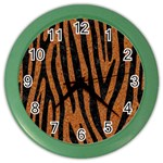 SKIN4 BLACK MARBLE & RUSTED METAL (R) Color Wall Clocks Front
