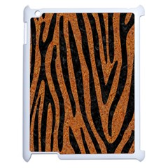 Skin4 Black Marble & Rusted Metal (r) Apple Ipad 2 Case (white) by trendistuff