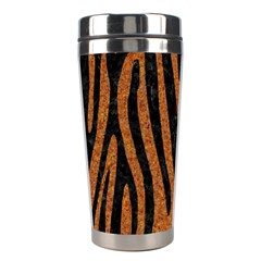 Skin4 Black Marble & Rusted Metal (r) Stainless Steel Travel Tumblers by trendistuff