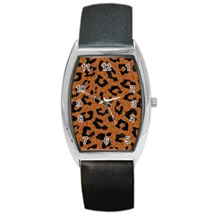 Skin5 Black Marble & Rusted Metal (r) Barrel Style Metal Watch by trendistuff