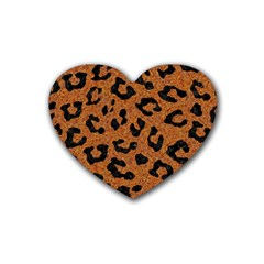 Skin5 Black Marble & Rusted Metal (r) Heart Coaster (4 Pack)  by trendistuff
