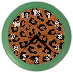 SKIN5 BLACK MARBLE & RUSTED METAL (R) Color Wall Clocks Front