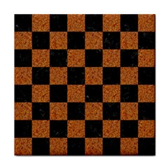 Square1 Black Marble & Rusted Metal Tile Coasters by trendistuff