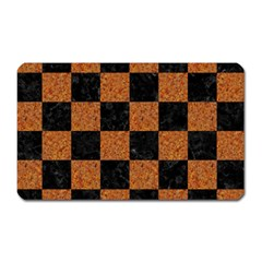 Square1 Black Marble & Rusted Metal Magnet (rectangular) by trendistuff