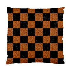 Square1 Black Marble & Rusted Metal Standard Cushion Case (two Sides) by trendistuff