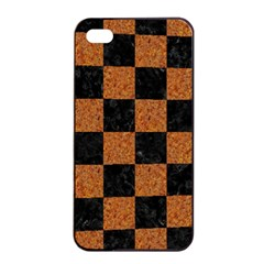 Square1 Black Marble & Rusted Metal Apple Iphone 4/4s Seamless Case (black) by trendistuff