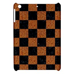 Square1 Black Marble & Rusted Metal Apple Ipad Mini Hardshell Case by trendistuff