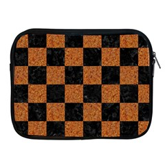 Square1 Black Marble & Rusted Metal Apple Ipad 2/3/4 Zipper Cases by trendistuff