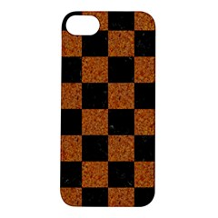 Square1 Black Marble & Rusted Metal Apple Iphone 5s/ Se Hardshell Case by trendistuff