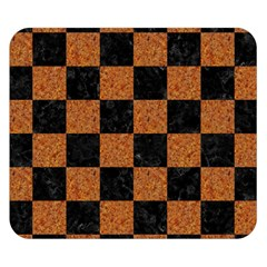 Square1 Black Marble & Rusted Metal Double Sided Flano Blanket (small)  by trendistuff