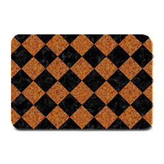 Square2 Black Marble & Rusted Metal Plate Mats by trendistuff