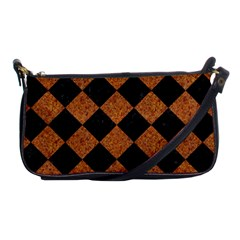 Square2 Black Marble & Rusted Metal Shoulder Clutch Bags by trendistuff