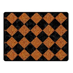 Square2 Black Marble & Rusted Metal Fleece Blanket (small) by trendistuff