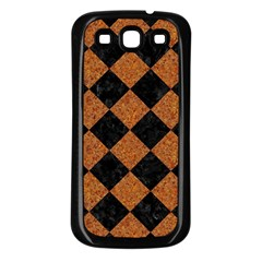 Square2 Black Marble & Rusted Metal Samsung Galaxy S3 Back Case (black) by trendistuff
