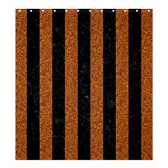 Stripes1 Black Marble & Rusted Metal Shower Curtain 66  X 72  (large)  by trendistuff