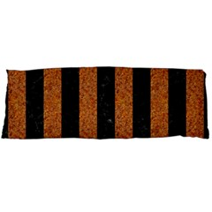 Stripes1 Black Marble & Rusted Metal Body Pillow Case (dakimakura) by trendistuff