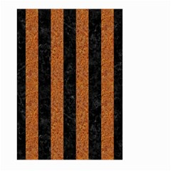 Stripes1 Black Marble & Rusted Metal Large Garden Flag (two Sides) by trendistuff