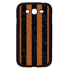 Stripes1 Black Marble & Rusted Metal Samsung Galaxy Grand Duos I9082 Case (black) by trendistuff