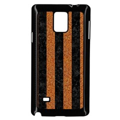 Stripes1 Black Marble & Rusted Metal Samsung Galaxy Note 4 Case (black) by trendistuff