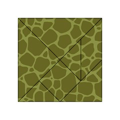 Autumn Animal Print 1 Acrylic Tangram Puzzle (4  X 4 ) by tarastyle