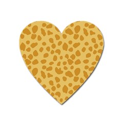 Autumn Animal Print 2 Heart Magnet by tarastyle