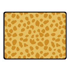 Autumn Animal Print 2 Double Sided Fleece Blanket (small)  by tarastyle