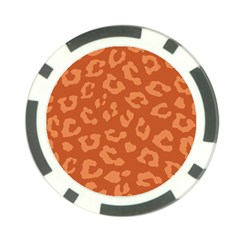 Autumn Animal Print 3 Poker Chip Card Guard by tarastyle