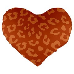 Autumn Animal Print 3 Large 19  Premium Heart Shape Cushions by tarastyle