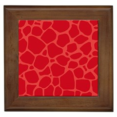Autumn Animal Print 6 Framed Tiles by tarastyle