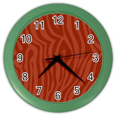 Autumn Animal Print 8 Color Wall Clocks by tarastyle