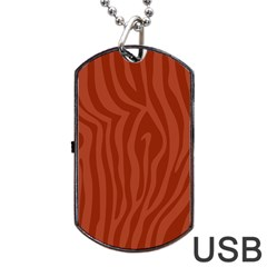 Autumn Animal Print 8 Dog Tag Usb Flash (one Side) by tarastyle