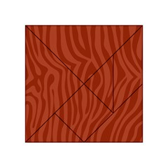 Autumn Animal Print 8 Acrylic Tangram Puzzle (4  X 4 ) by tarastyle