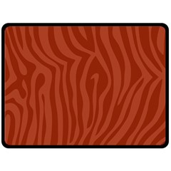 Autumn Animal Print 8 Double Sided Fleece Blanket (large)  by tarastyle
