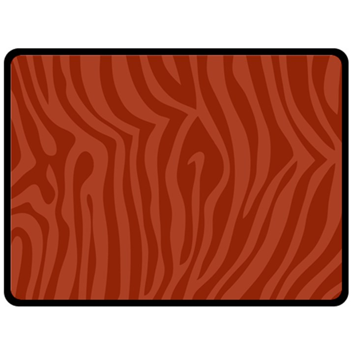 Autumn Animal Print 8 Double Sided Fleece Blanket (Large)