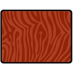 Autumn Animal Print 8 Double Sided Fleece Blanket (Large)  80 x60 Blanket Back