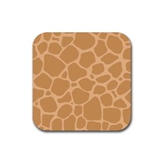 Autumn Animal Print 10 Rubber Square Coaster (4 pack)
