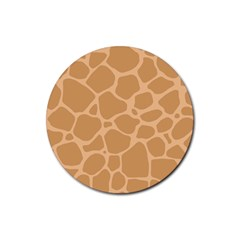 Autumn Animal Print 10 Rubber Round Coaster (4 pack)