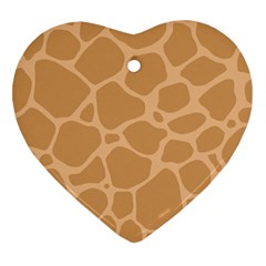 Autumn Animal Print 10 Heart Ornament (Two Sides)