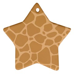 Autumn Animal Print 10 Star Ornament (two Sides) by tarastyle